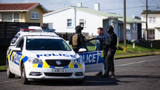 Police on the site of Ratana & # 39; s death in Whanganui on Tuesday.