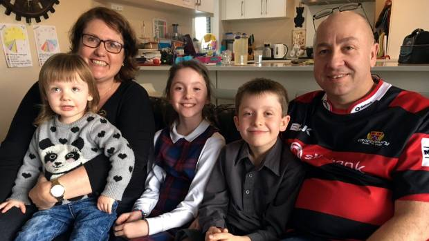Tara and Paul Francis, with their children Edie, 2, and Poppy and Jack, both 9. The family Francis, from Rangiora, were ...