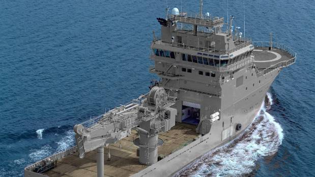 The government has announced that it will spend $ 103 million on a new naval vessel used for specialized diving activities and seabed ...
