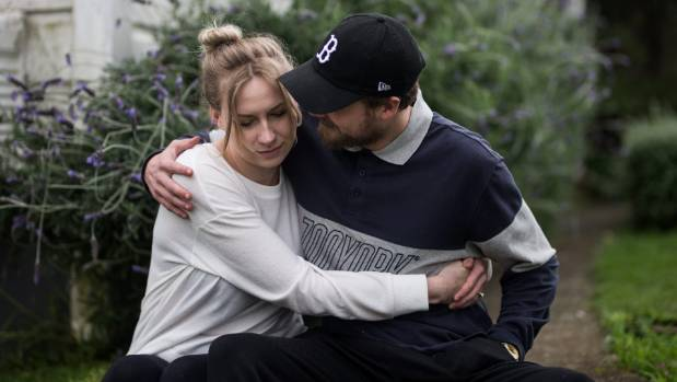 Pregnant Daisy Symes and finance Nathan Woods became homeless after the tornado.