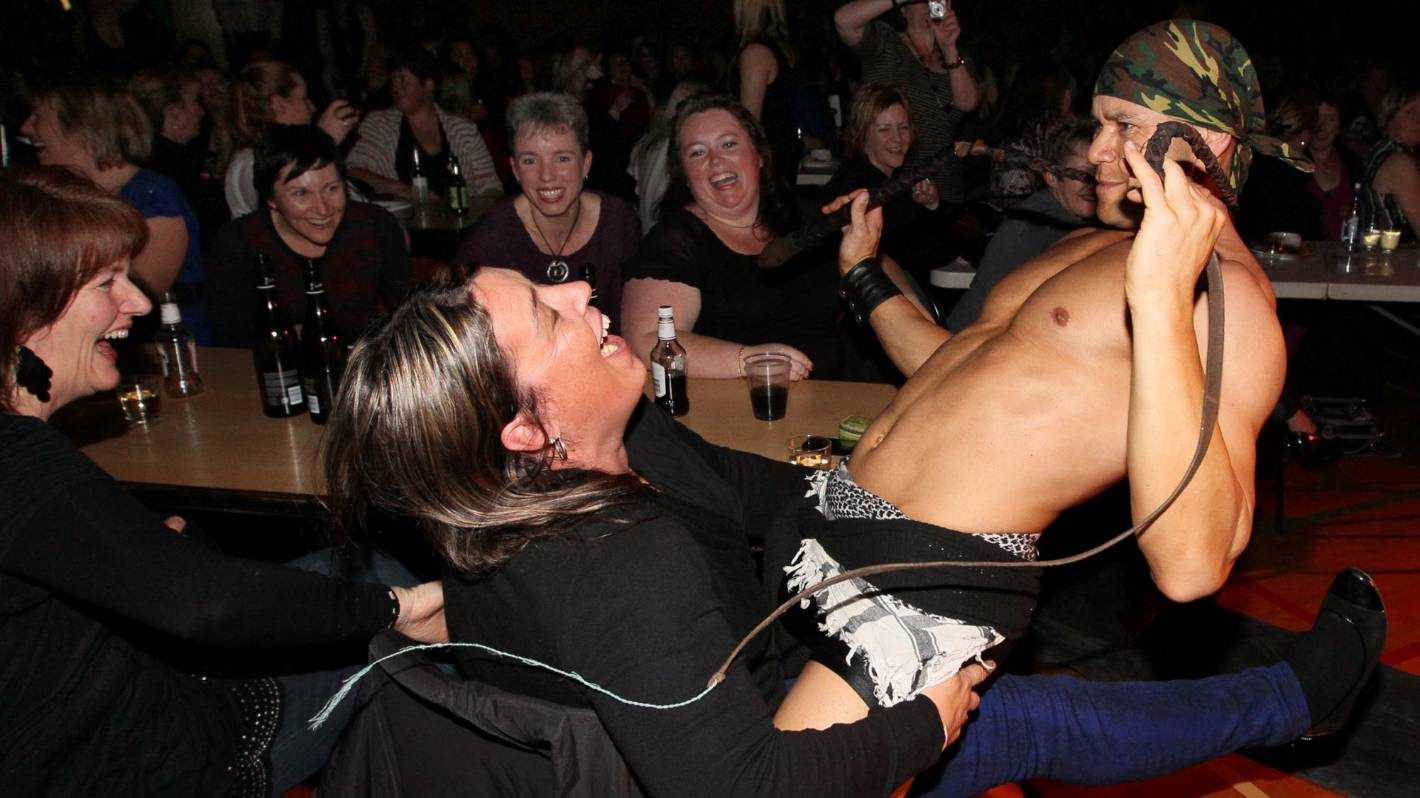 All male stripper party