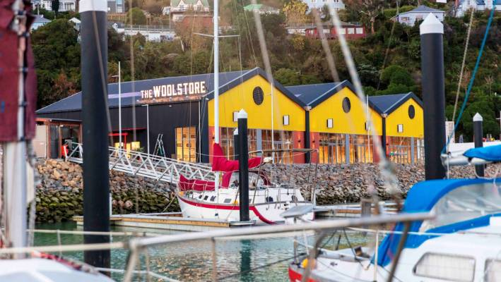 How the Woolstore will look at Te Ana Marina at Lyttelton.