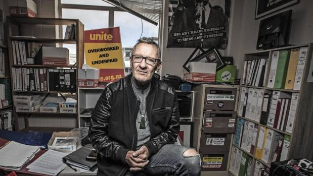 Mike Treen is the national director of Unite union, a small group that represents workers in fast-food outlets, cinemas, ...