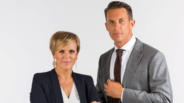 Seven Sharp hosts Hilary Barry and Jeremy Wells.