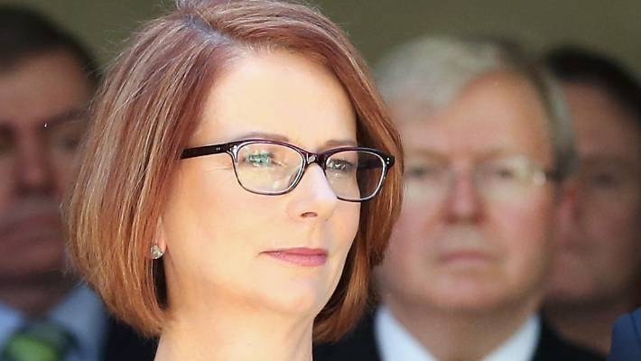 Alan Jones once said that former Australian prime minister Julia Gillard's father had died of shame. — Photograph: Scott Barbour/Getty Images.
