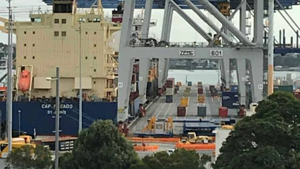 Auckland's port stands silent following an accident that left a worker in a critical condition.