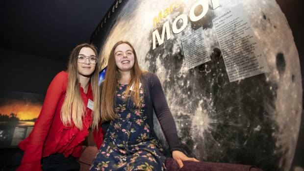 University of Auckland students Lara Collier, 20, and Amelia Cordwell, 19, say they will apply for NASA ...