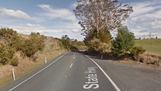 Emergency services respond to a crash on State Highway 1 after a logging truck crashes.