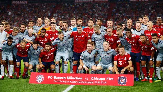 Schweinsteiger's Bayern-Chicago Fire tribute game draws 75,000 08/29/2018
