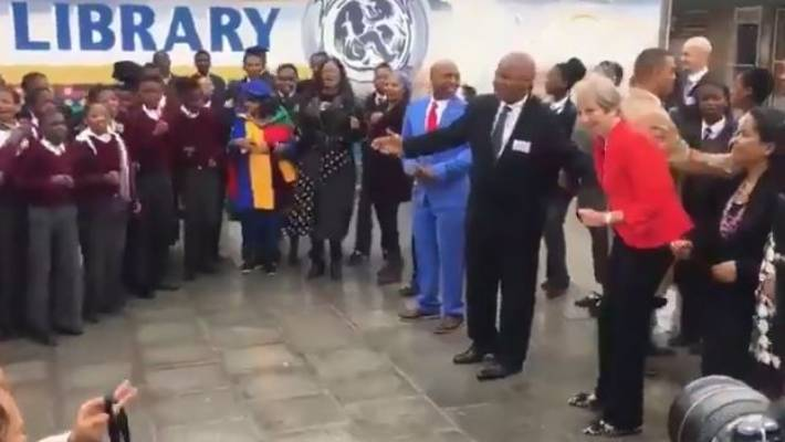 British prime minister's trip to South Africa takes a stiff