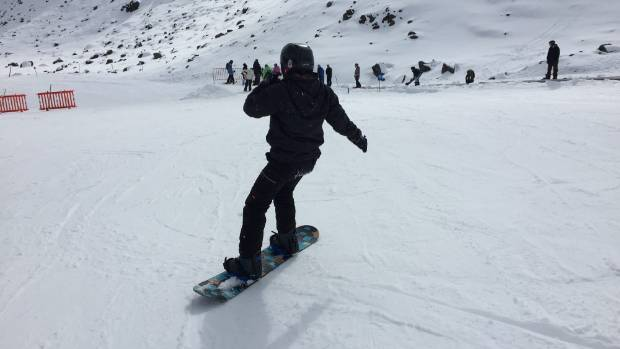 Hitting the slopes, nervous as ever. Pearly white snow at the Happy Valley ski-field.