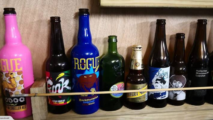 wellington man sells epic beer bottle collection stuff co nz
