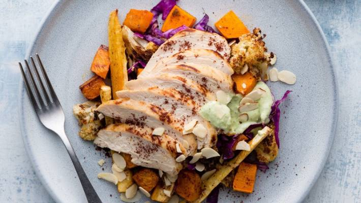 Recipe Sumac Chicken With Moroccan Pumpkin And Almonds From My Food