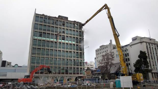 The Manchester Unity Building on Manchester St being demolished in September 2011. The building was one of Beaven's biggest projects in the city.