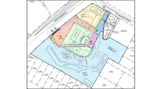 The Holmes Group's proposal is to subdivide the Parklands Motor Lodge's land into three lots, with the Motor Lodge ...