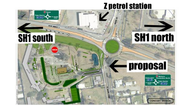 NZTA says the roundabout proposed for Turangi would not fit without taking up additional land.
