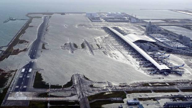 Kansai International Airport is closed indefinitely.