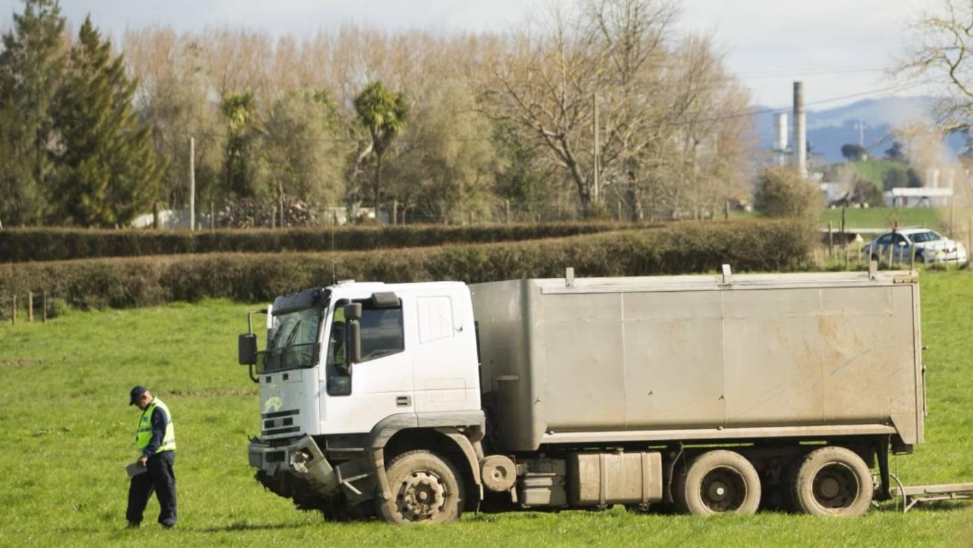 Truck kills man and his dog on road north of Hamilton