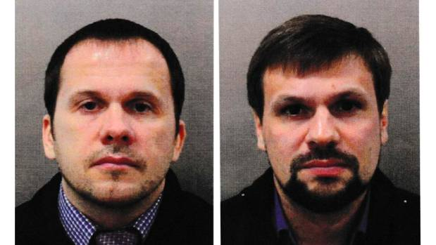 Alexander Petrov left and Ruslan Boshirov have been charged by British police with attempted murder