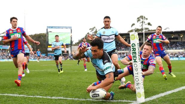 The Sharks' Sosaia Feki will play on the wing against the table-topping Roosters this weekend.