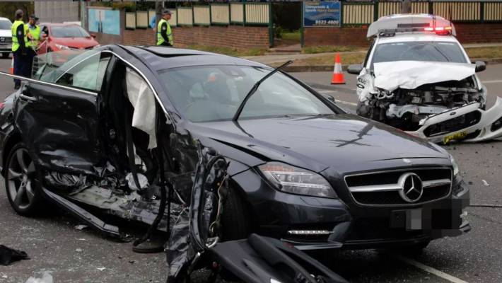 Police car involved in Sydney crash was looking for driver