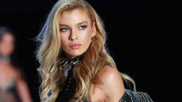 c303ce9e8 Model Stella Maxwell walks the runway for Swarovski Sparkles In the 2017  Victoria s Secret Fashion Show