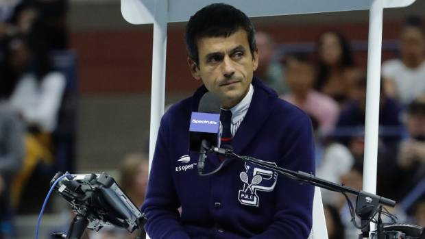 Chair umpire Carlos Ramos docked Serena Williams a game during the US Open final for'verbal abuse
