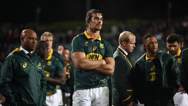 The Springboks look dejected after a 57-0 drubbing at Albany in 2007.