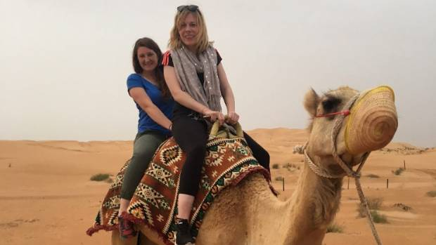 Siobhan (right) said that, while there are laws and things to be mindful of, there's very little in Dubai you can't do.