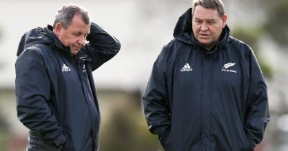 All Blacks coach Steve Hansen, right, and assistant coach Ian Foster have plenty of thinking to do after last week's ...