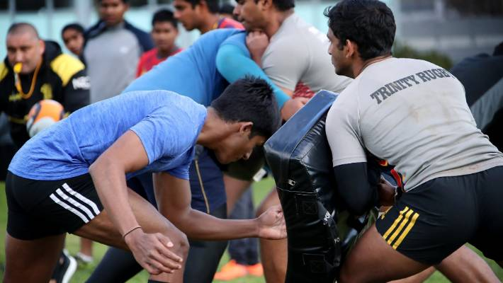 The Wellington Rugby Football Union is hosting the Sri Lankan squad from Trinity College, Kandy, as part of a development programme.