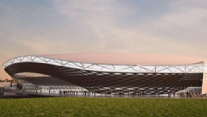 An artist's impression of a possible stadium design for Christchurch.