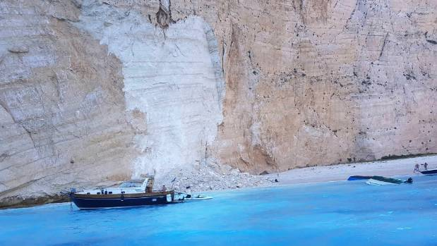 Landslide at famed Greek 'Shipwreck Beach' injures tourists