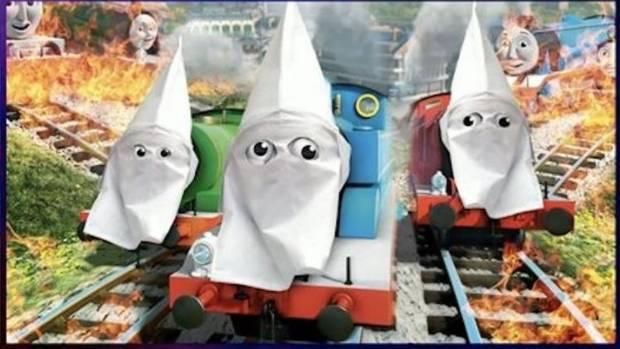 NRA TV show depicts Thomas & Friends in Ku Klux Klan hoods