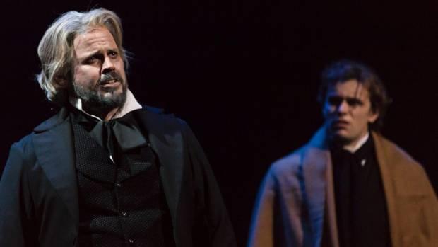 Daniel Belle (Valjean) and Fergus Inder (Marius).