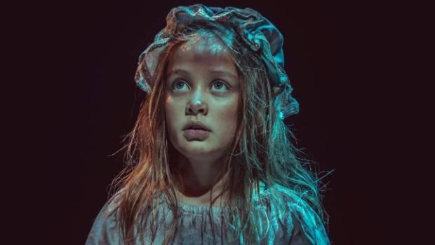 Arawyn Allan-Griffiths (Little Cosette), in the production of Les Misérables.