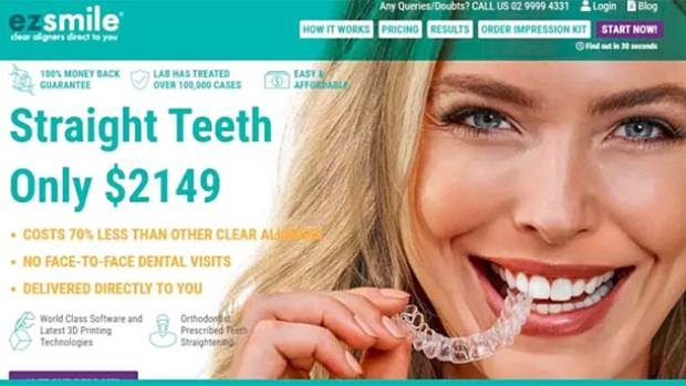 EZ Smile, based in Sydney, offers transparent aligners at reduced prices and via the Internet.