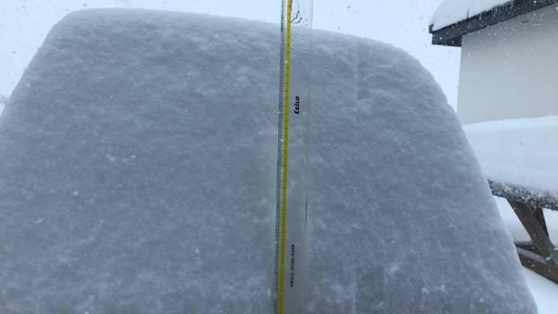 45 centimetres of snow at Cardrona Alpine Resort.