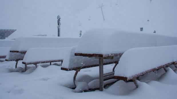 Coronet Peak's snow laden table tops.