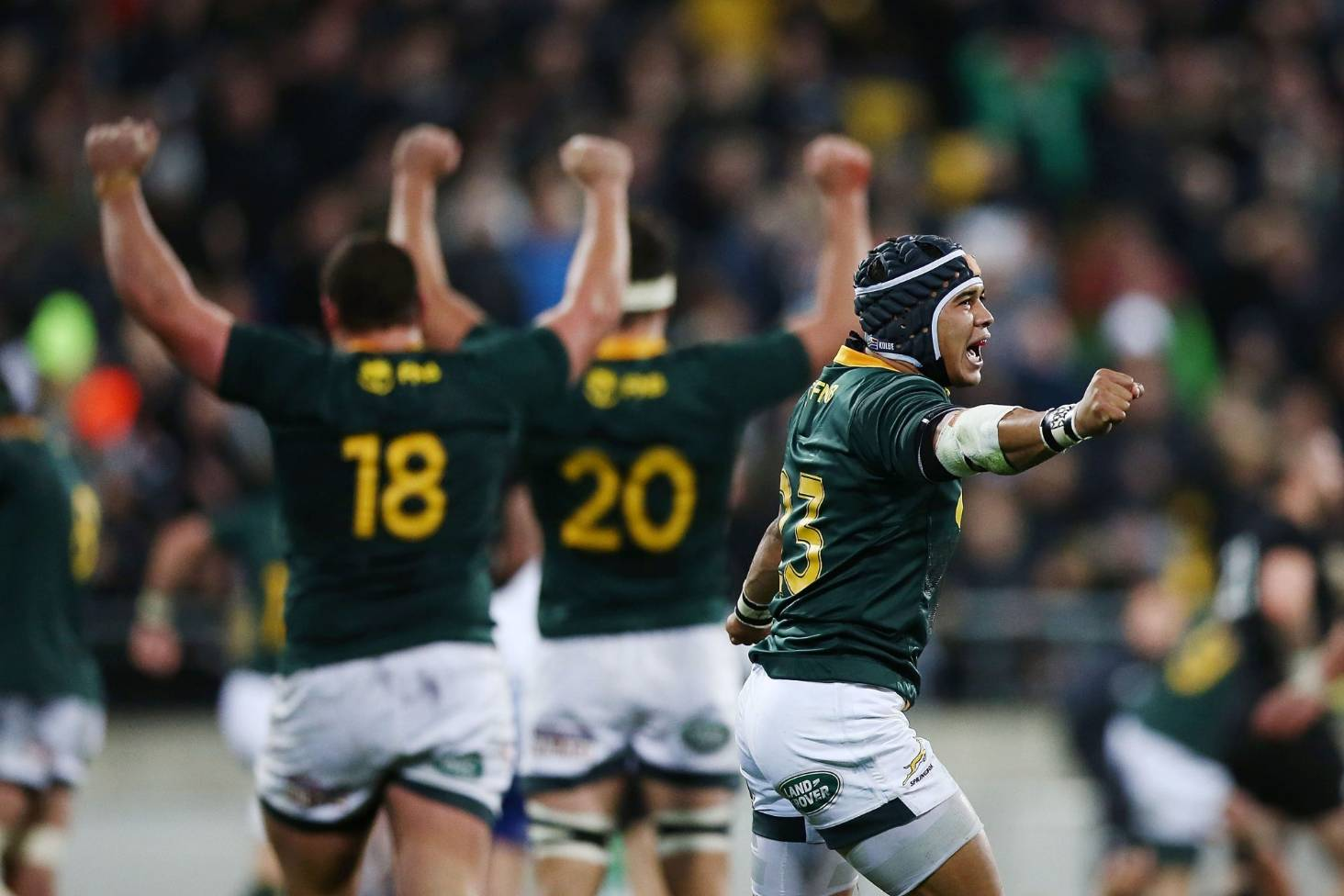 The Springboks beat the All Blacks and left SA with tears of joy