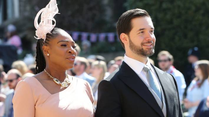Serena Williams and partner Alexis Ohanian were guests at Prince Harry and Meghan Markle's wedding in May