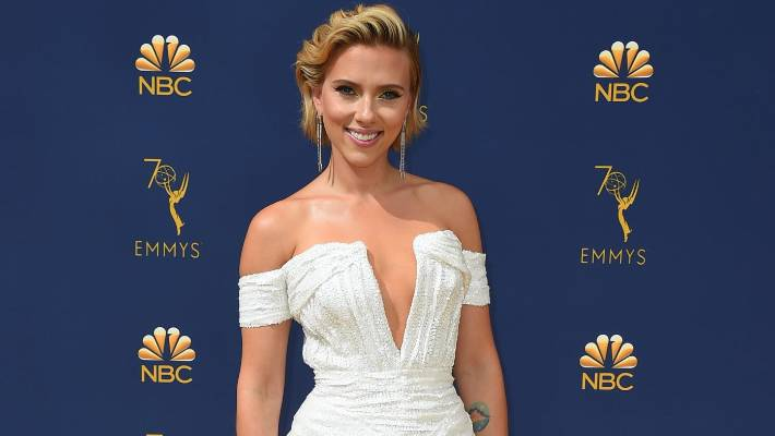 Scarlett Johansson arrives at the 70th Primetime Emmy Awards in September 2018.