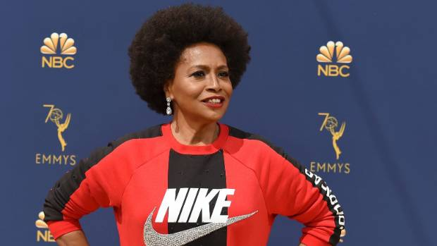'Black-ish' star Jennifer Lewis wears Nike sweatshirt on Emmys red carpet