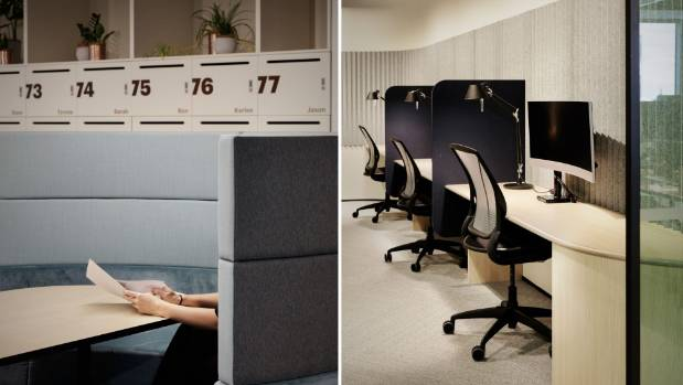 A range of work spaces are available for staff - they are not fixed to a workstation all day.