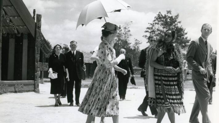 The Queen and Duke of Edinburgh visit New Zealand.