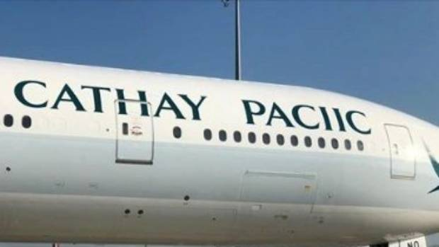Cathay Pacific doesn't give an F, spells its name wrong on plane