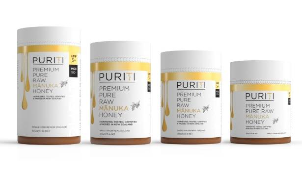 The range of Midlands Apiaries mānuka honeys being marketed under the Puriti brand.