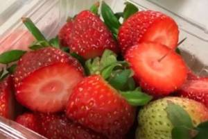 A needle found in a punnet of strawberries in Australia.