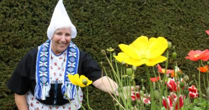 The tulip has become the national flower of The Netherlands. Pictured is Hamilton Tulip Festival committee member Kitty ...