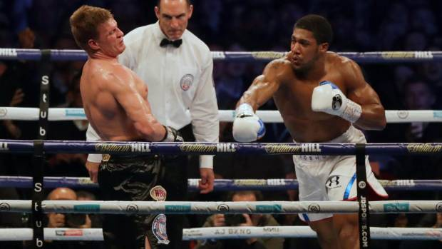 Anthony Joshua retains titles with brutal knockout of Alexander Povetkin